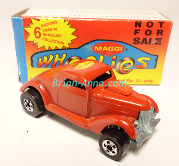 Hot Wheels Leo Mattel India, Boxed, Neet Streeter in Red with Maggi  tampo