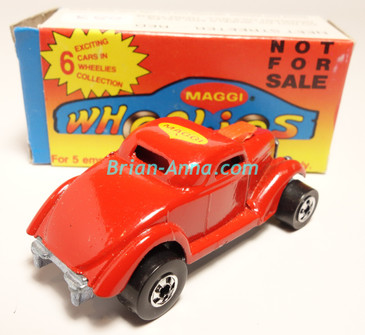 Hot Wheels Leo Mattel India, Boxed, Neet Streeter in Dark Red with Maggi  tampo