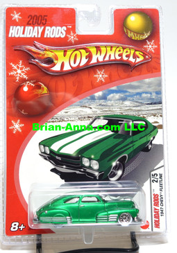 Hot Wheels 2005 Holiday Rods, 1947 Chevy Fleetline in Satin Green