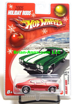Hot Wheels 2005 Holiday Rods, 1970 Chevelle SS in Satin Red