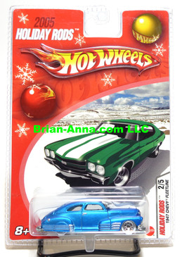 Hot Wheels 2005 Holiday Rods, 1947 Chevy Fleetline in Satin Blue