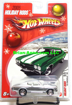 Hot Wheels 2005 Holiday Rods, 1970 Chevelle SS in Satin Silver