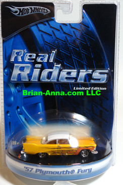 Hot Wheels Real Rider Series Limited Edition,  '57 Plymouth Fury