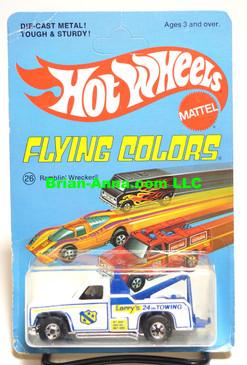 Hot Wheels Ramblin Wrecker, White, Blackwall Wheels, Flying Colors Package