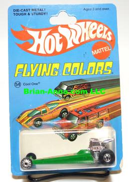Hot Wheels Cool One in Green, Blackwall Wheels, Flying Colors Package