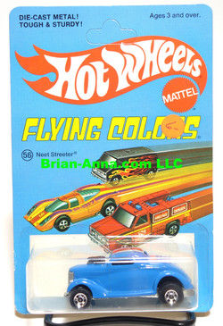 Hot Wheels Neet Streeter, Ford Oldie but a Goodie Tampo, Blackwall Wheels, Unpunched Flying Colors Package