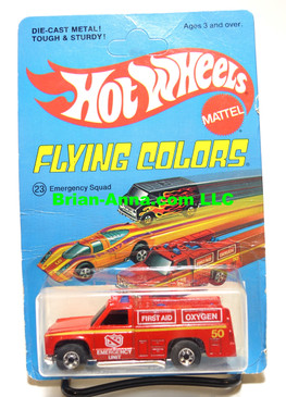 Hot Wheels Emergency Squad, Blackwall Wheels, Unpunched Flying Colors Package