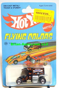 Hot Wheels T-Totaller in Black, Blackwall Wheels, Flying Colors Package