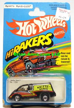 Hot Wheels HiRakers Vette Van in Black, Blackwalls