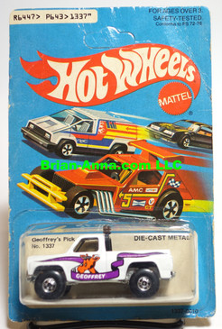 Hot Wheels Geoffrey's Pick-Up, Blackwall whls, Hong Kong, Mint on card (541)