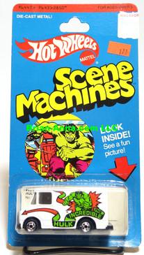 Hot Wheels Incredible Hulk, Scene Machine,  Blackwall whls, Hong Kong, Mint on card (543)