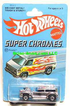 Hot Wheels Blackwall, Chrome Prowler on Super Chromes Card