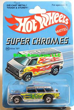 Hot Wheels Blackwall, Alive 55 on Super Chromes Card