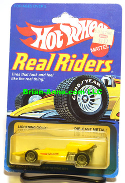 Hot Wheels Real Riders,  Lightning Gold on Real Riders Card