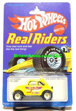Hot Wheels Real Riders,  Yellow Baja Bug, White Hubs on Real Riders Card