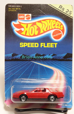 Hot Wheels Leo Mattel India 80's Firebird, Red with Hot Bird tampo on hood on Unpunched Blister (MS3india-145)