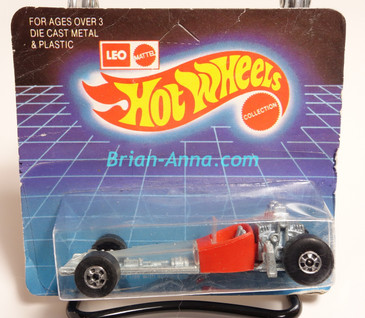 Hot Wheels Leo Mattel India Odd Rod, Red on short Unpunched Blister (MS3india-147)