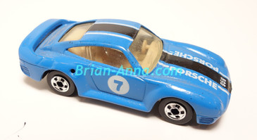 Hot Wheels Leo Mattel India, Blue Porsche 959, LOOSE (MS3india-140)