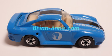 Hot Wheels Leo Mattel India, Blue Porsche 959, LOOSE (MS3india-141)