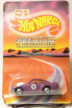 Hot Wheels Leo Mattel India Porsche 959, Blue on  large Premium card,  Unpunched Blister (MS3india-138)