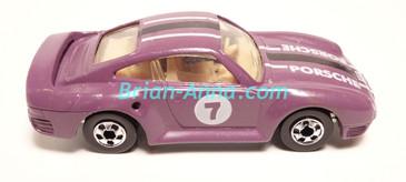 Hot Wheels Leo Mattel India, Purple Porsche 959, LOOSE (MS3india-142)