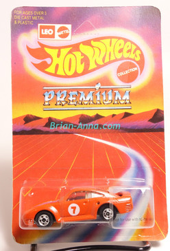 Hot Wheels Leo Mattel India Porsche 959, Red on  large Premium card,  Unpunched Blister (MS3india-136)