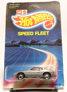 Hot Wheels Leo Mattel India Upfront 924 Porsche in Silver/Gray, Speed Fleet card,  Unpunched Blister (MS3india-154)