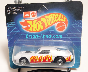 Hot Wheels Leo Mattel India Torino Stocker, White/Flames on short Unpunched Blister (MS3india-267)