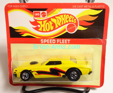 Hot Wheels Leo Mattel India Torino Stocker, Yellow with rare Black/Red tampo, Unpunched card (MS3india-296)