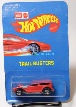 Hot Wheels Leo Mattel India Prowler/Demon in Red, unpunched card (MS3india-615)
