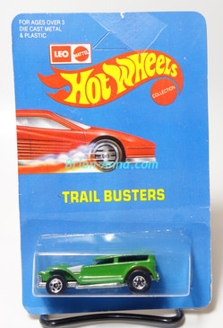 Hot Wheels Leo Mattel India Prowler/Demon in Green, unpunched card (MS3india-618)