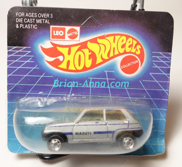 Hot Wheels Leo Mattel India Maruti in Silver, unpunched card (MS3india-662)