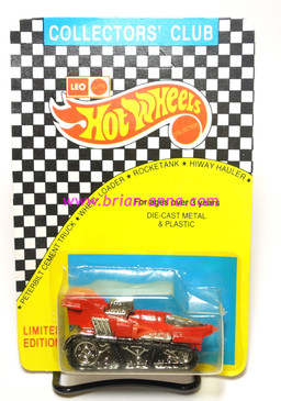 Hot Wheels Leo Mattel India Red Treadator, unpunched card (MS3india-867)