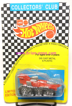 Hot Wheels Leo Mattel India Red Treadator, unpunched card (MS3india-868)