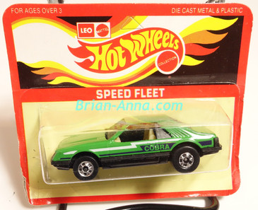 Hot Wheels Leo Mattel India, Turbo Mustang, Green, Cobra tampo, unpunched card (MS3india-007)