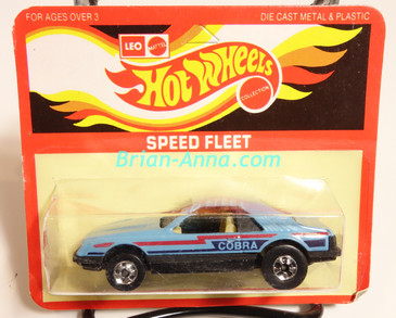 Hot Wheels Leo Mattel India, Turbo Mustang, Light Blue, Cobra tampo, unpunched card (MS3india-008)
