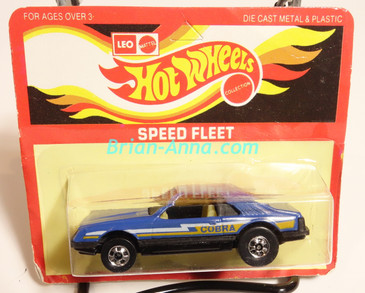 Hot Wheels Leo Mattel India, Turbo Mustang, Dark Blue, Cobra tampo, unpunched card (MS3india-009)