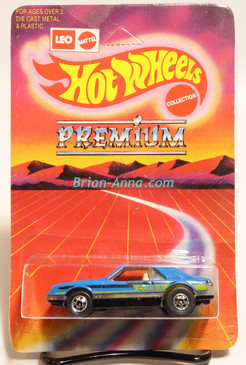 Hot Wheels Leo Mattel India, Turbo Mustang, Medium Blue, Cobra tampo, unpunched card (MS3india-012)