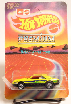 Hot Wheels Leo Mattel India, Turbo Mustang, Yellow, Cobra tampo, unpunched card (MS3india-013)