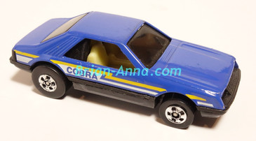 Hot Wheels Leo Mattel India, LOOSE Turbo Mustang, Dark Blue, Cobra tampo (MS3india-014)