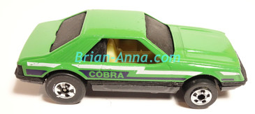 Hot Wheels Leo Mattel India, LOOSE Turbo Mustang, Green, Cobra tampo (MS3india-015)