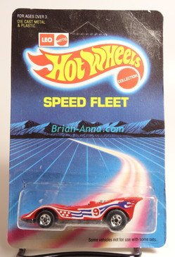 Hot Wheels Leo Mattel India, American Victory in Red w/BW wheels, unpunched card (MS3india-123)