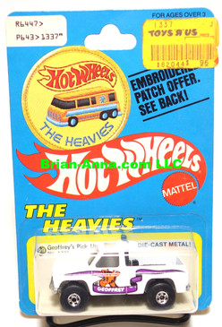 Hot Wheels Geoffrey's Pickup on Patch Card