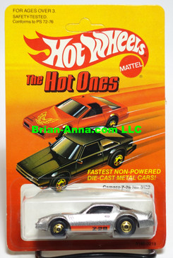 "Hot Wheels Camaro Z28, metalflake silver w/hogd wheels, ""The Hot Ones"" card"