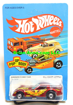 Hot Wheels Metalflake Red Firebird Funny Car, unpunched card (ms3-576)