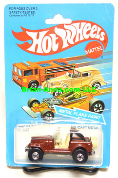 Hot Wheels Jeep CJ-7 Metal Flake Red Brown, Basic Wheels (ms3-580)