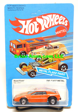 Hot Wheels Metalflake Orange Royal Flash, BW wheels, Malaysia base, unpunched card (ms3-582)