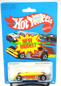 Hot Wheels Formula Fever, BW wheels, Hong Kong base (ms3-584)