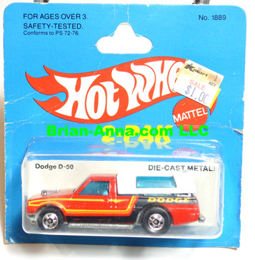 Hot Wheels Dodge D-50, Red, BW wheels, Hong Kong base (ms3-585)