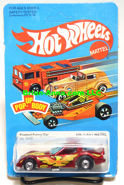 Hot Wheels Metalflake Red Firebird Funny Car, unpunched card (ms3-586)